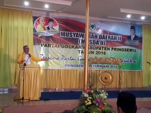 Suherman Terpilih Sebagai Ketua DPD II Golkar Pringsewu