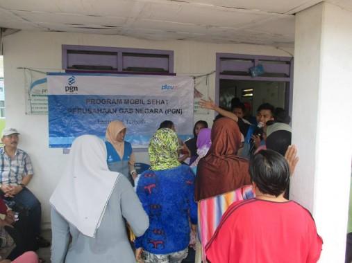 PGN-PKPU Lampung Kembali Gulirkan Aksi Mobil Sehat di Tulangbawang Barat
