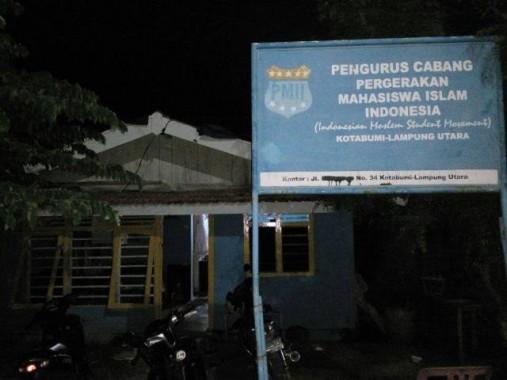 Sekretariat PMII Lampung Utara. | Lia/Jejamo.com