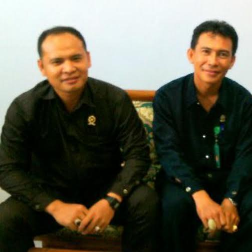 Humas Pengadilan Negeri Kotabumi Lampung Utara Hakim Miryanto SH MH, didampingi Panitera Muda Pidana M Ardiansyah W SH | Lia/jejamo.com