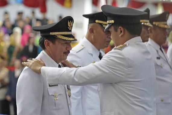 Penyematan tanda pangkat oleh Gubernur Lampung | tama/jejamo.com