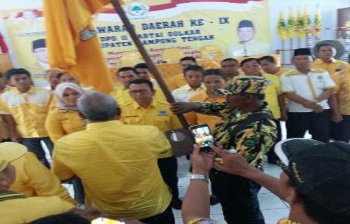 Mustafa Enggan Maju Kembali dalam Pemilihan Ketua DPD II Golkar Lampung Tengah