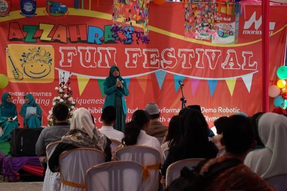 – SD Islam Az Zahra Bandar Lampung menggelar Az Zahra's Fun Festival (AFF) pada Jumat-Sabtu, 29-30 Januari 2016. | Ist