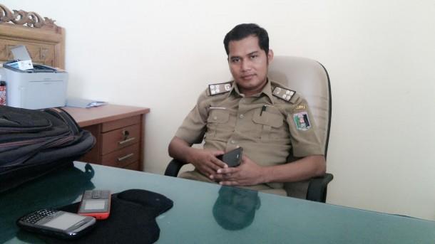 Kasi Perlengkapan Bagian Umum Sekretariat Pemkab Lampung Timur Anung Pramono. | Parman/Jejamo.com