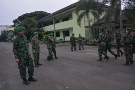 Disiplin Menurun, Kasrem 043/ Gatam Awasi Kegiatan Minggu Militer