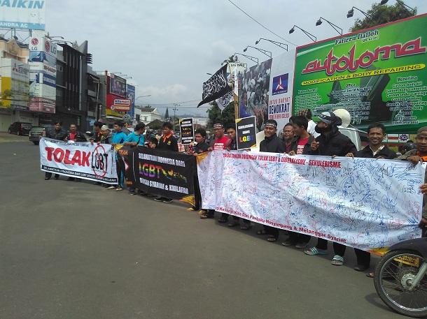 Demo Tolak LGBT Disambut Baik Warga Bandar Lampung