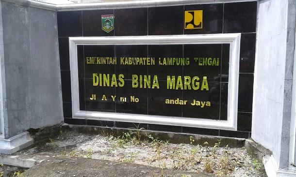 Dinas Bina Marga Lampung Tengah. | Adrian/Jejamo.com