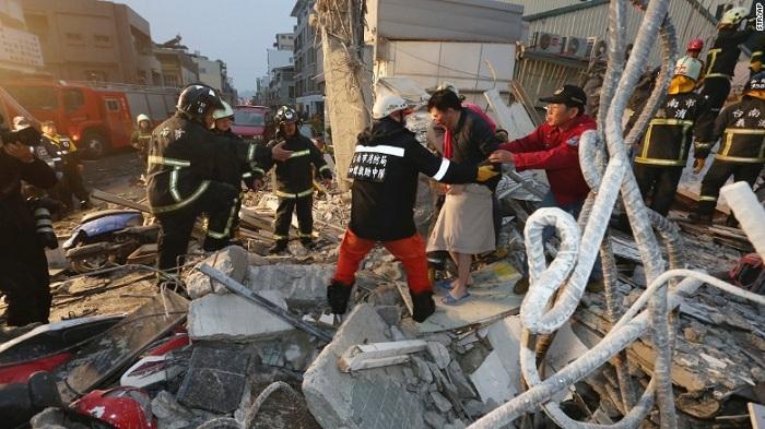 Jumlah korban tewas gempa taiwan terus bertambah menjadi 41 orang dan 497 lainnya terluka. | Ist.