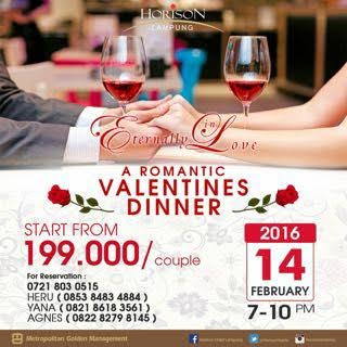 Valentine Day, Hotel Horison Lampung Tawarkan Paket Romantic Valentines Dinner