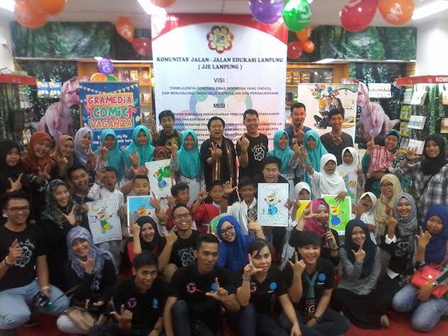 Komunitas JJE Lampung Ajak Puluhan Anak Panti ke Gramedia