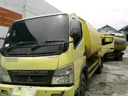 Mobil bermuatan minysk mentah disita Kodim 0421 Natar Lampung Selatan. | Sugiono/Jejamo.com