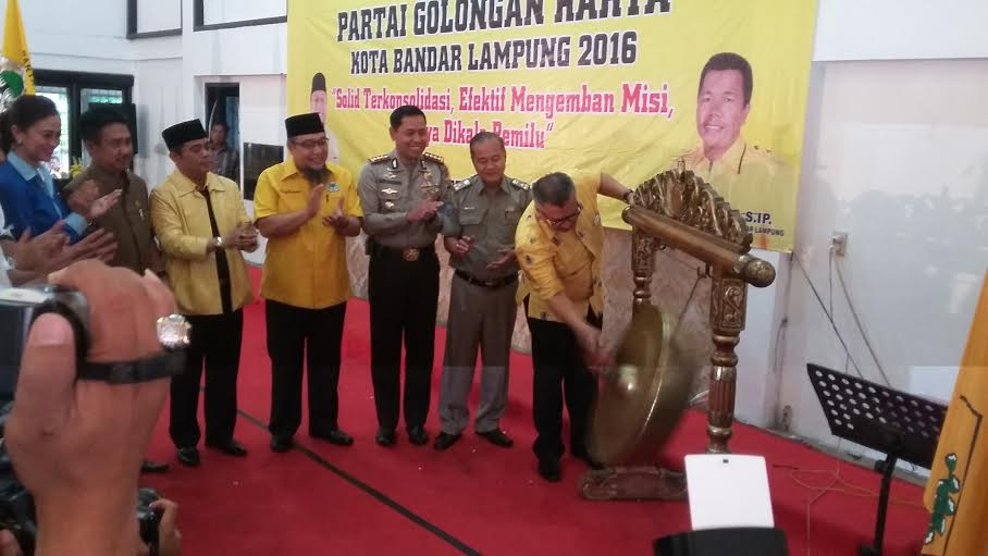 Alzier Dianis Thabranie Buka Musda IX Partai Golkar Bandar Lampung