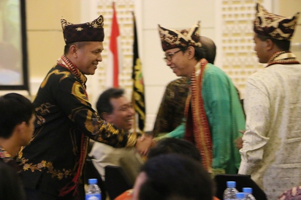 Ketua Kadin Lampung, Ari Meizary (baju hijau). | Ist.