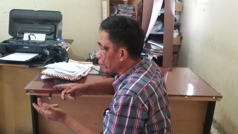 Mustofa (51), pelaku pemecah kaca di kantor ketua DPRD Lampung ini mengaku sebagai nabi usai mendapatkan bisikan halus. | Arif Wiryatama/Jejamo.com