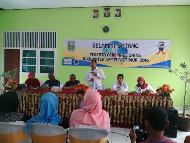 Pembukaan olimpiade sains nasional (OSN) di Lampung Timur, Kamis, 18/2/2016. | Parman/Jejamo.com