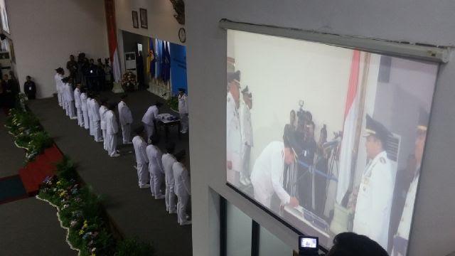 Gubernur Lampung Resmi Lantik 8 Kepala Daerah Terpilih