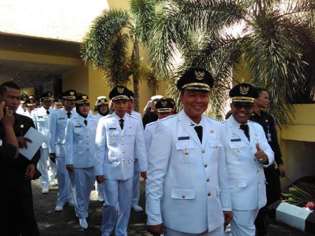 Pelantikan Kepala Daerah, Mobil Plat Merah Padati Lapangan Korpri Bandar Lampung