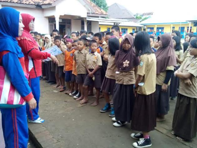 Penyuluhan DBD di salah satu SD di Kotabumi Lampung Utara. | Prika/Jejamo.com