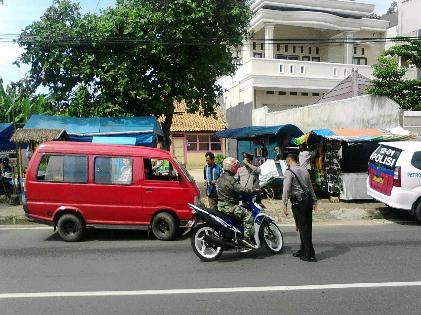 Polsekta Tanjungkarang Barat Bandar Lampung Gelar Operasi Penertiban