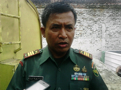 Danramil Natar Lampung Selatan, Kapten Infantri Suprapto. | Sugiono/Jejamo.com