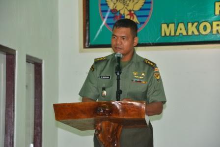 Kepala staf Korem 043/Gatam Letnan kolonel Inf. Utten Simbolon. | Ist.