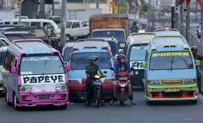 Angkutan umum di Bandar Lampung | ist