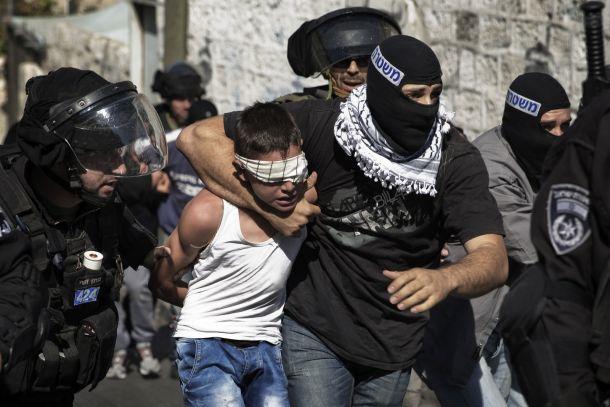 Bocah palestina ditangkap oleh aparat Israel | ist