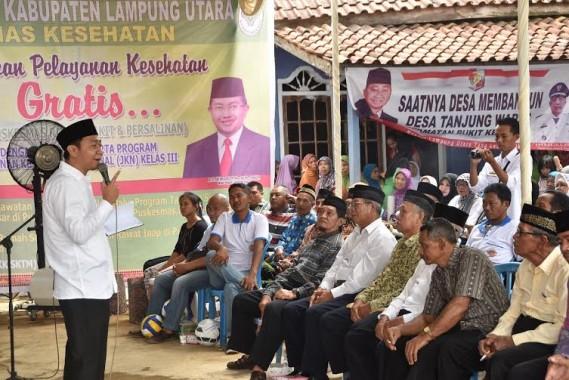 Bupati Lampung Utara Kunker di Desa Tanjung Waras Bukit Kemuning