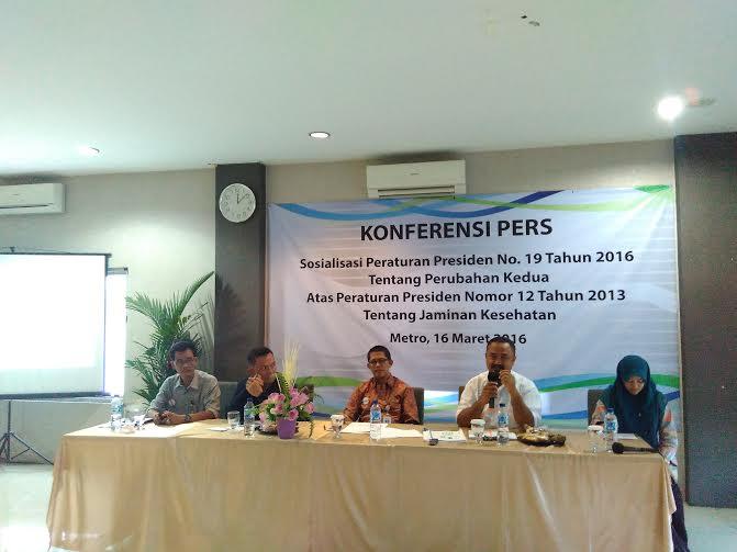 Iuran Naik, BPJS Metro Gelar Konferensi Pers Klaim Hanya Penyesuaian