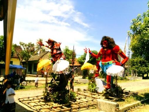 Umat Hindu di Mulyo Asri Tulangbawang Tengah Gelar Upacara Tawur Agung