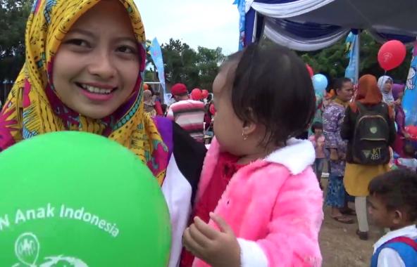 Lucu-Menggemaskan Anak Bupati Lampung Selatan Zainudin Hasan Saat Pencanangan PIN