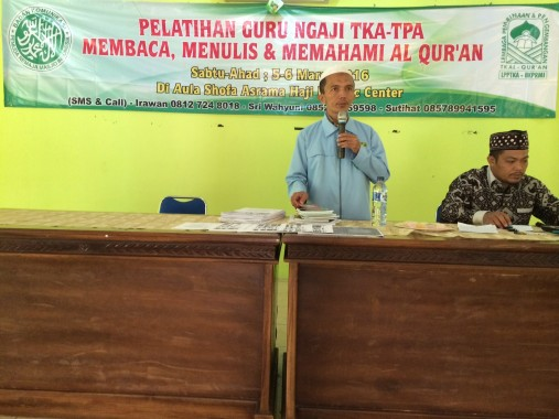 Direktur Wilayah LPPTKA (Lembaga Pembinaan dan Pengembangan TK Alquran) BKPRMI Lampung, Irawan. | Ist