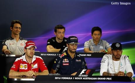 Rio Haryanto Jumpa Pers Bareng Lewis Hamilton dan Vettel