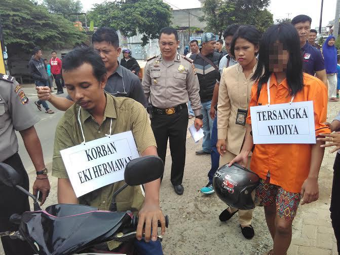 Sebelum Membunuh, Widia Bercinta dengan Korban di Semak-Semak dekat Perumahan Suropati Bandar Lampung