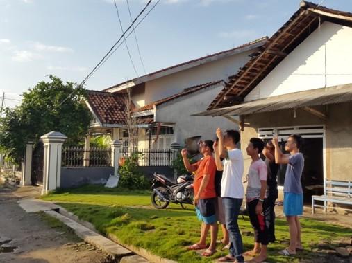 Ribuan Warga Ikuti Salat Kusuf di Lapangan Korpri Pemprov Lampung