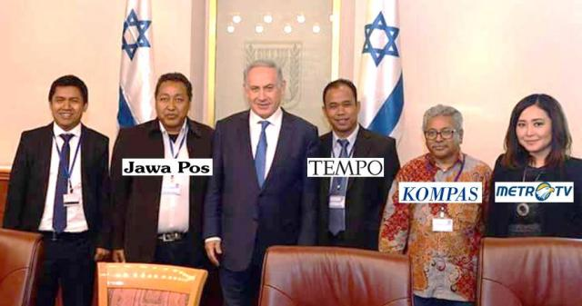 Sejumlah wartawan senior Indonesia berfoto bersama PM Israel | ist