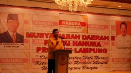 Wiranto Buka Musda Hanura Lampung, Mance Calon Kuat