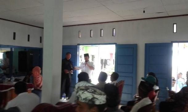Zainudin Hasan saat membuka Musrembang di Way Muli, Rajabasa, Lampung Selatan| Heri/jejamo.com