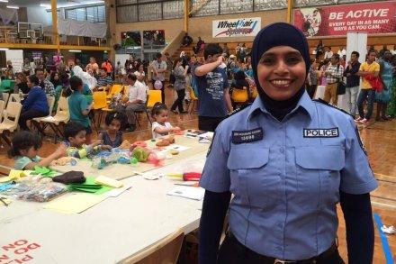 Zen Mohamad Kassim, polisi pertama di Australia yang mengenakan hijab. | Ist.