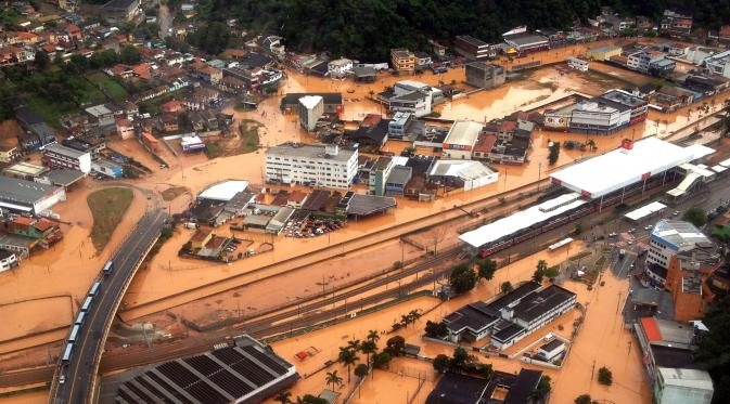 Banjir dan Longsor Serang Brasil, 15 Orang Tewas