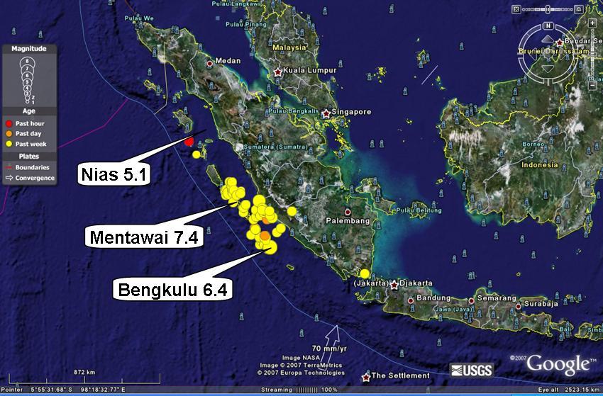 Gempa Mentawai. | Ist.