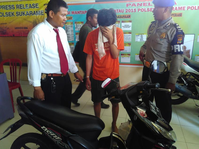 Demi Anak, Seorang Ayah di Bandar Lampung Nekat Curi Motor