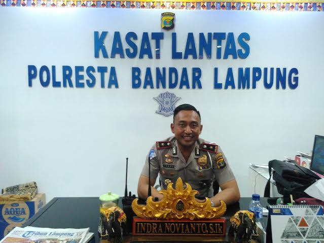 Kepala Satuan Lalu Lintas Polresta Bandar Lampung, Kompol Indra Novianto. | Andi/Jejamo.com