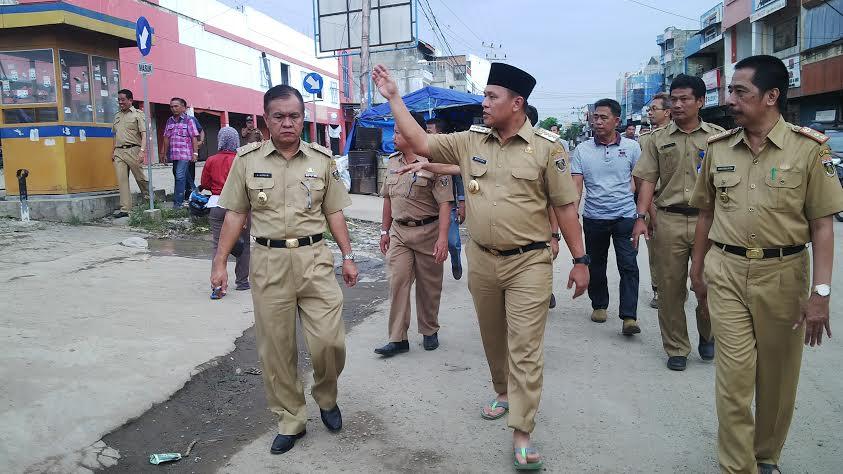Bupati Tata Ulang Bandarjaya Plaza Lampung Tengah