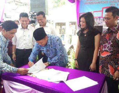 MoU dengan Investor, Pemkab Lampung Tengah Sulap Bandarjaya Plaza Jadi 3 Lantai