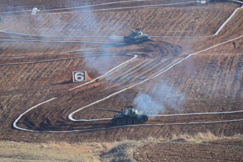 Balap tank di Korea Utara. | Ist.