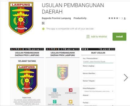 Pemprov Lampung Akan Luncurkan Aplikasi Usulan Warga