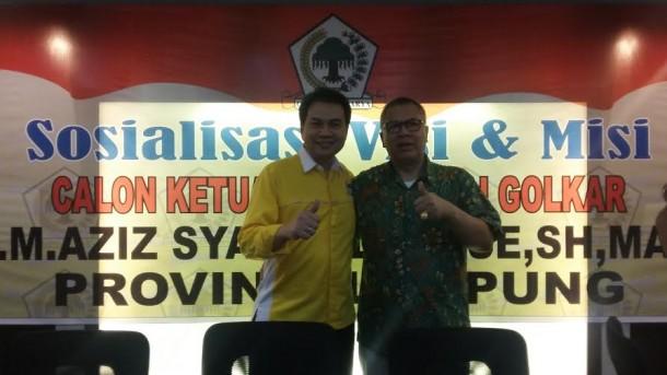 Alzier Siap Menangkan M Azis Syamsudin jadi Ketua DPP Golkar