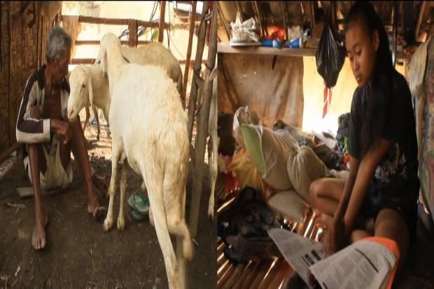 Tukijan dan putrinya Zulaikah harus rela tinggal di kandang kambing | Istimewa