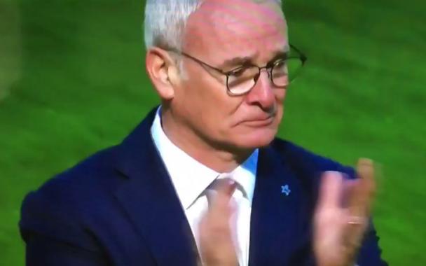 Claudio Ranieri menangis
